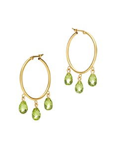 Bloomingdale's - Semi-Precious Briolette Hoop Earrings in 14K Yellow Gold