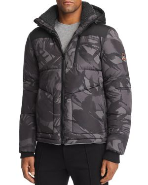 SUPERDRY Expedition Puffer Coat in Black