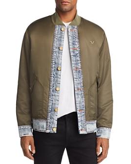 True Religion - Mixed-Media Bomber Jacket