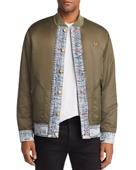 True Religion - Mixed-Media Bomber Jacket