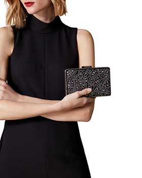 KAREN MILLEN - Small Stud Detail Box Clutch