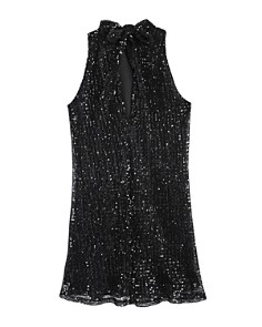 Miss Behave - Girls' Tonya Mock-Neck Sequin Dress - Big Kid