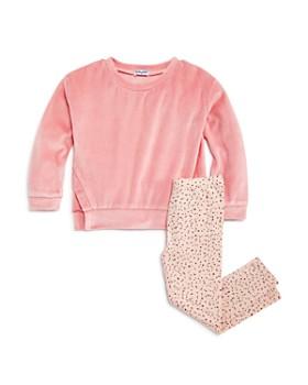 Splendid - Girls' Velour Sweatshirt & Speckled Leggings Set - Little Kid
