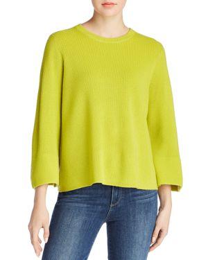 Eileen Fisher Merino Wool Bell Sleeve Sweater