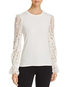 Elie Tahari - Hamani Lace-Sleeve Sweater