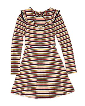 AQUA - Girls' Ribbed & Striped Skater Dress, Big Kid - 100% Exclusive