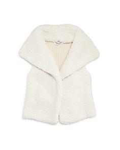 Splendid - Girls' Knit Sherpa Vest - Little Kid