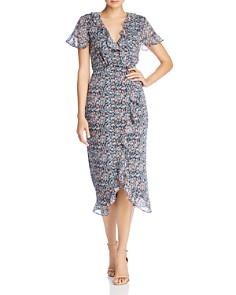 The East Order - Cece Floral-Print Midi Wrap Dress