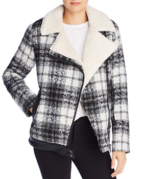 Moon & Meadow - Day-to-Night Plaid Moto-Style Jacket