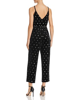 AQUA - Star-Embroidered Velvet Jumpsuit - 100% Exclusive