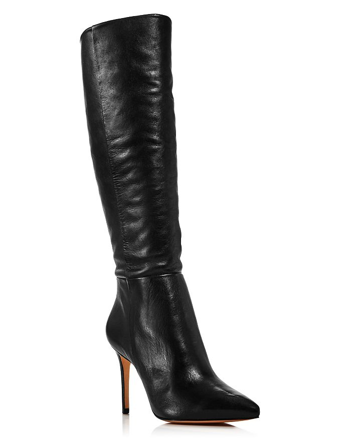 Leather Black Boots Women