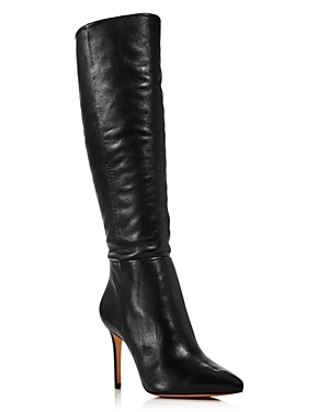 Schutz Women\\\'s Magalli Pointed Toe Tall Leather Boots