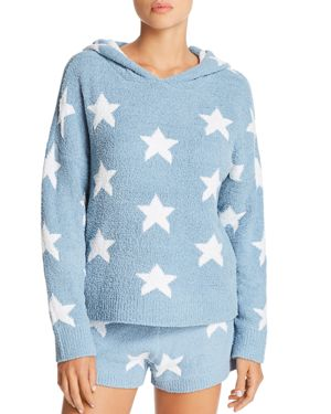 HONEYDEW Snow Angel Lounge Hoodie in Lovebird Stars