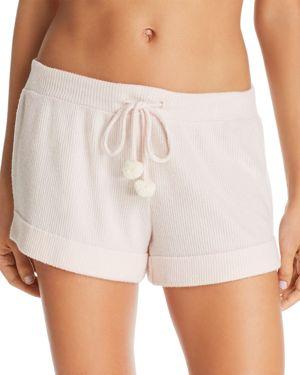 NATURAL SKIN Ventia Ribbed Shorts in Pearl Pink
