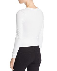 Kendall + Kylie - Ruched Jersey Top