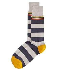 Paul Smith - Sol Twist Contrast-Striped Socks