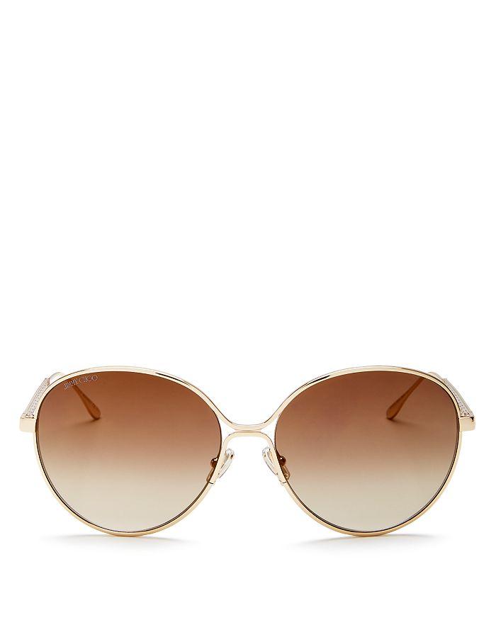 Jimmy Choo - Women's Neva Mirrored Oversized Round Sunglasses, 60mm
