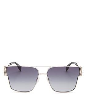 Moschino - Women's Brow Bar Square Sunglasses, 60mm