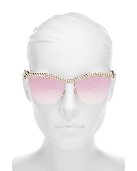 Moschino - Women's Mirrored Square Sunglasses, 57mm