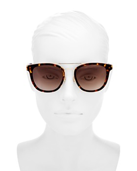 5423eff2566 ... 54mm kate spade new york - Women s Jalicia Brow Bar Round Sunglasses
