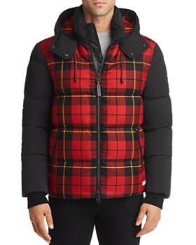 Mackage - Rylan Plaid Mixed-Media Hooded Down Jacket