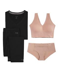 Calvin Klein - Comfort PJ, Bralette & Hipster Set - 100% Exclusive