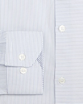 WRK - Two-Directional Striped Slim Fit Dress Shirt
