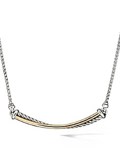 David Yurman - Crossover Bar Necklace with 18K Yellow Gold