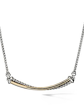 David Yurman - Crossover Bar Necklace with 18K Gold