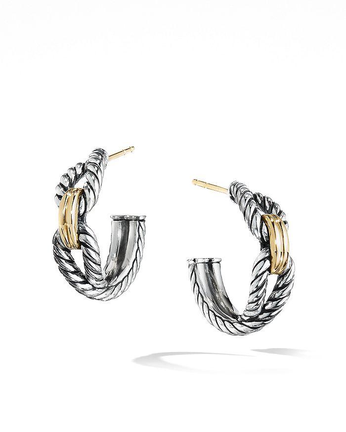 David Yurman - Cable Loop Hoop Earrings with 18K Gold
