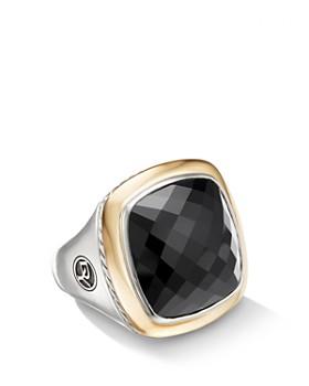 David Yurman - Albion Statement Ring with 18K Yellow Gold & Black Onyx