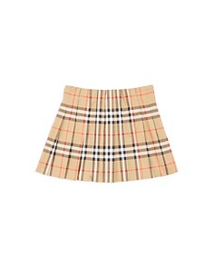 Burberry - Girls' Pearl Core Vintage Check Pleated Skirt - Little Kid, Big Kid