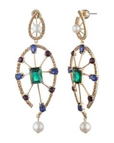 Carolee - Crystal & Cultured Freshwater Pearl Drop Earrings
