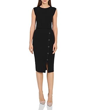 Reiss SASHA BUTTON-DETAIL KNIT DRESS