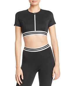 Kendall + Kylie - Zip-Front Cropped Top