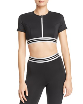 Kendall + Kylie - Zip-Front Cropped Top ... 764e0f153