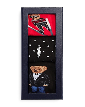 Ralph Lauren SKI BEAR SOCKS GIFT BOX, SET OF 3 - 100% EXCLUSIVE