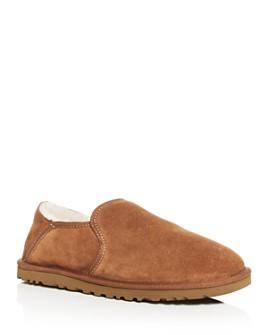 UGG® - Men's Kenton Wool-Lined Suede Slippers