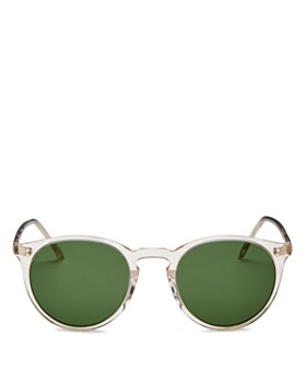 Oliver Peoples - Men's O'Malley Round Sunglasses, 48mm