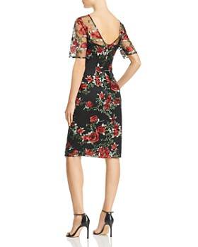 Adrianna Papell - Floral-Embroidered Dress