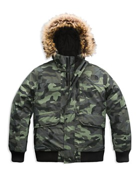 The North Face® - Boys' Camo-Print Gotham Down Jacket with Faux-Fur Trim - Little Kid, Big Kid