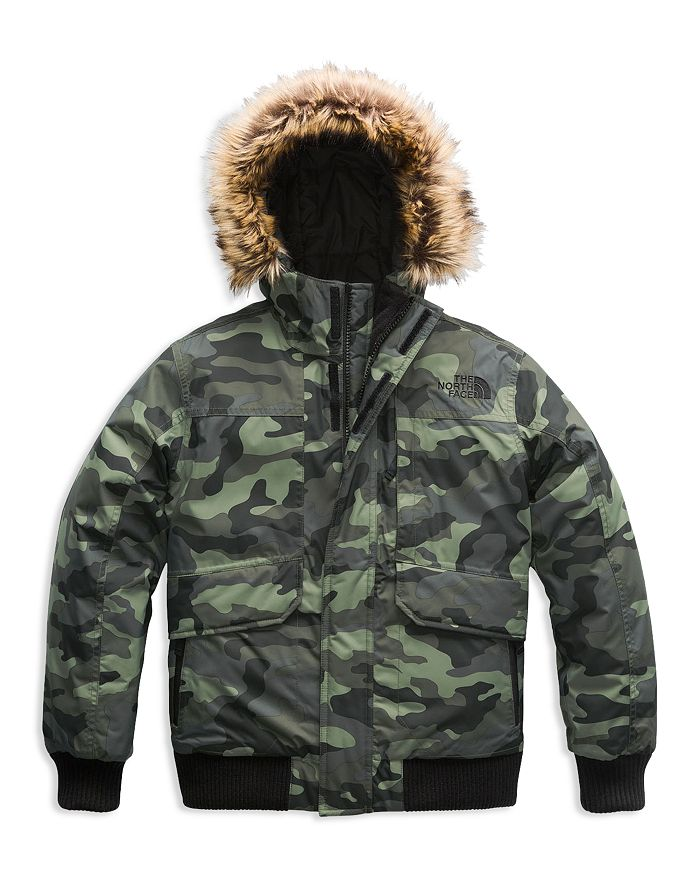 a8cece501ba3 The North Face® Boys  Camo-Print Gotham Down Jacket with Faux-Fur ...