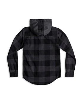 Quiksilver - Boys' Buffalo-Plaid Hooded Flannel Shirt - Big Kid
