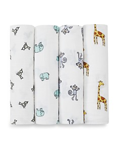 Aden and Anais - Jungle Jam Swaddles, Pack of 4