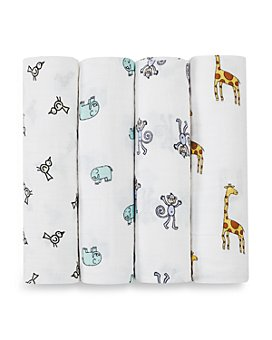 Aden and Anais - Jungle Jam Swaddles, Pack of 4 - Baby