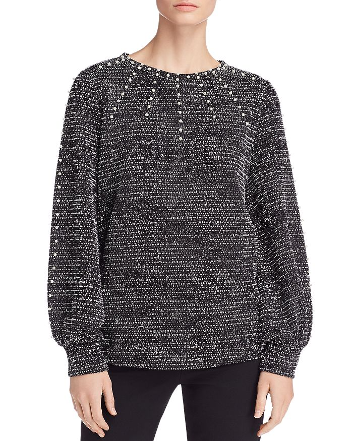 KARL LAGERFELD Paris - Embellished Textured Top