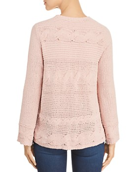 Heather B - Chenille Cable-Knit Sweater