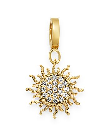 Roberto Coin - 18K Yellow Gold Diamond Sun Charm