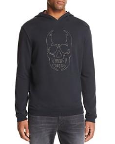 John Varvatos Star USA - Stitched-Chain Skull Hooded Sweatshirt