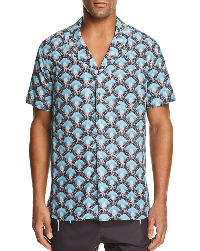 Neil Barrett - Travelers Palm-Print Regular Fit Shirt